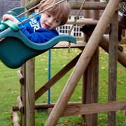 Child Enjoying the Outdoor Play Facilities
