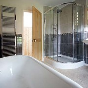 Luxurious Bathroom with Large Walk in Shower